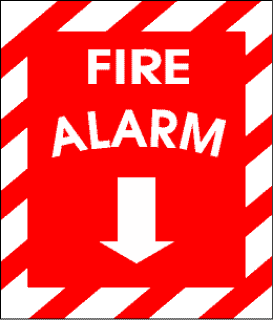 Fire Alarm Sign in Fear of Thunderstorms