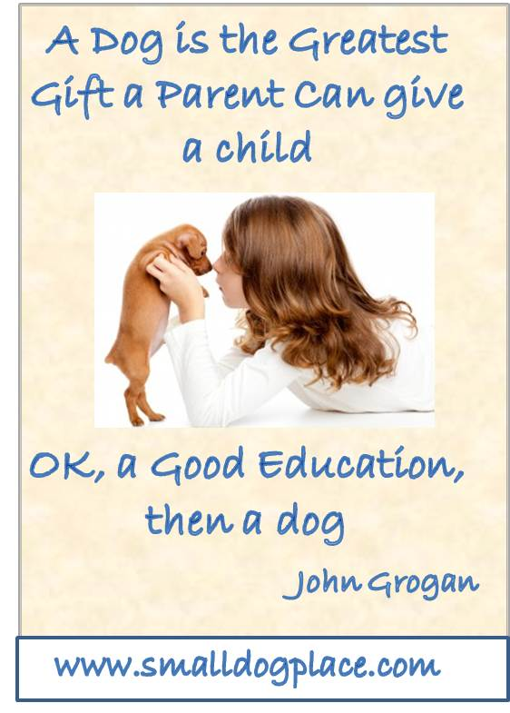 A Dog is the Best Gift a Parent can Give a Child (Quote)