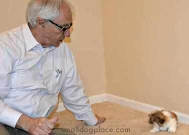 John Alan Jones with a Puppy