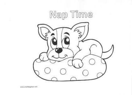 coloring page naptime - Boston Terrier Coloring Page