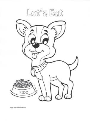 Coloring Page:  Let's Eat