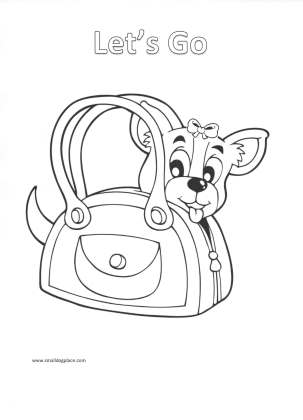 Puppy Coloring Page:  Let's go