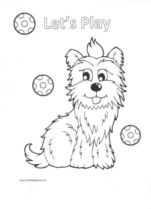 coloring page lets play - Shih Tzu Coloring Pages