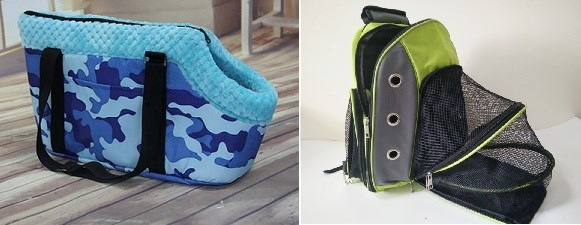 Dog Bags come in different styles -- choose one that meets your needs.