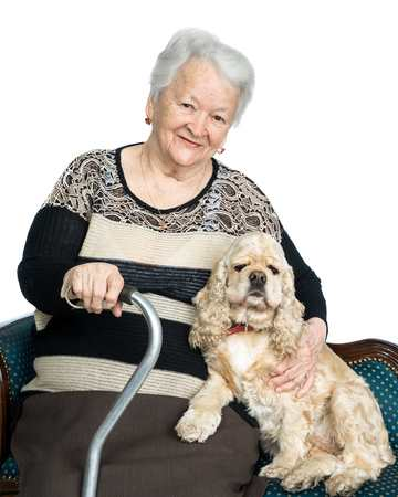Senior Dog Owner Safety Tips:  Sit while petting your dog.