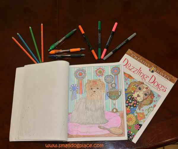 Adult Coloring for Dog Lovers Book and accessories.