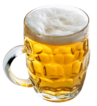 A mug of beer show, an example of a food that dog shouldn't be given to eat or drink.